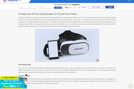 Future of Virtual Reality Education Infographic
