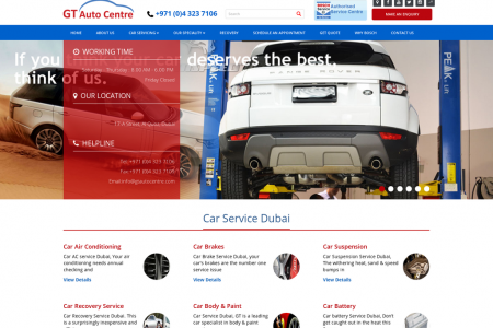 GT Auto Centre, Dubai - Best car service in Dubai Infographic
