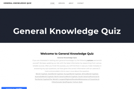 General Knowledge quizzes Infographic