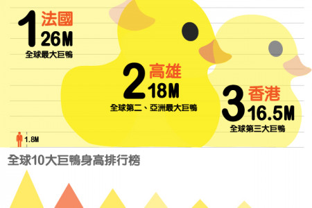 Giant Rubber Duck in Taiwan Infographic