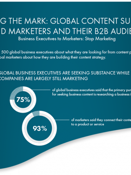 Global Content Survey Of Brand Marketers & Their B2B Audiences Infographic