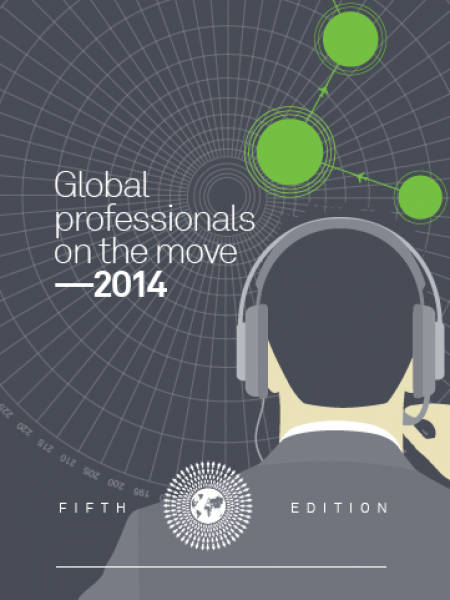 Global professionals on the move Infographic