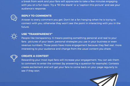 Growing a Business via Facebook - 5 Actionnable Methods Infographic