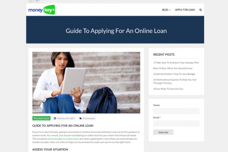 Guide To Applying For An Online Loan Infographic