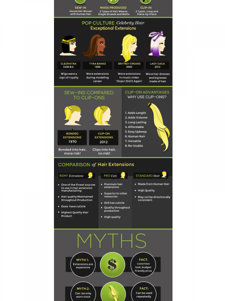 History of Hair Extensions Infographic