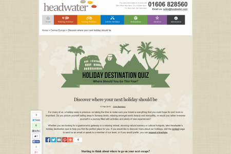 Holiday Destination Quiz: Where should you go this year? Infographic