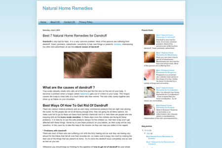 Home Remedies for Dandruff Infographic