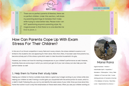 How Can Parents Cope Up With Exam Stress For Their Children? Infographic