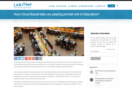 How Cloud Based labs are playing pivotal role in Education? Infographic