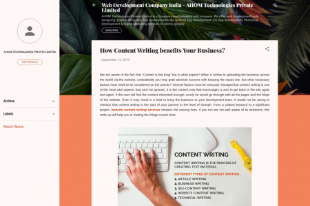 How Content Writing benefits Your Business? Infographic