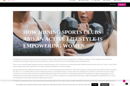 How Joining Sports Clubs & an Active Lifestyle is Empowering Women Infographic