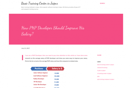 How PHP Developer Should Improve His Salary? Infographic