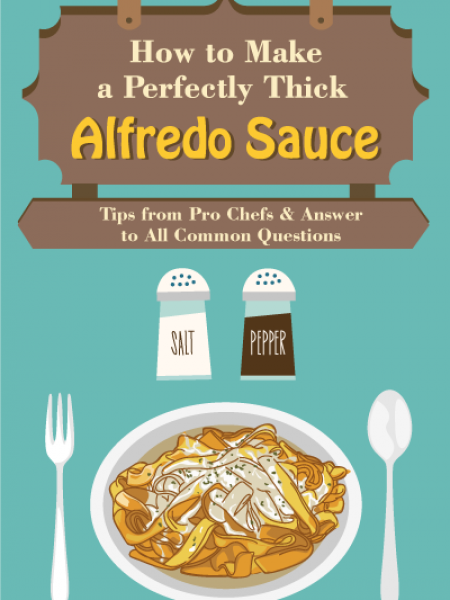 How To Make a Perfectly Thick Alfredo Sauce Infographic