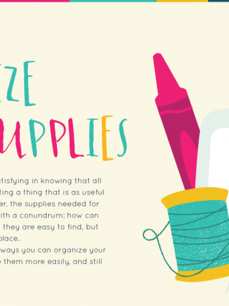 How To Organize Craft Supplies Infographic