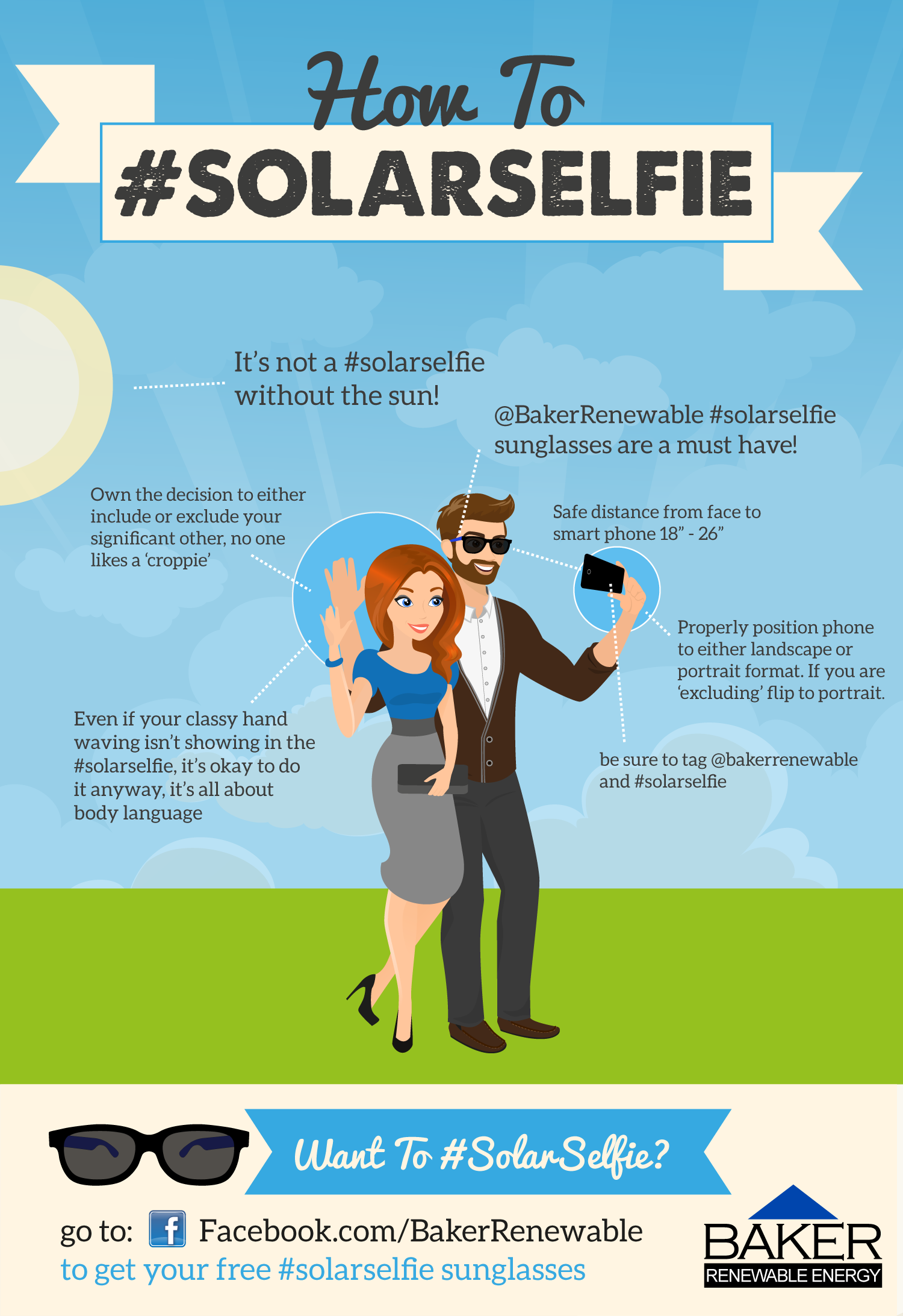 How To #SolarSelfie Infographic