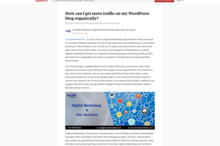 How can I get more traffic on my WordPress blog organically? Infographic