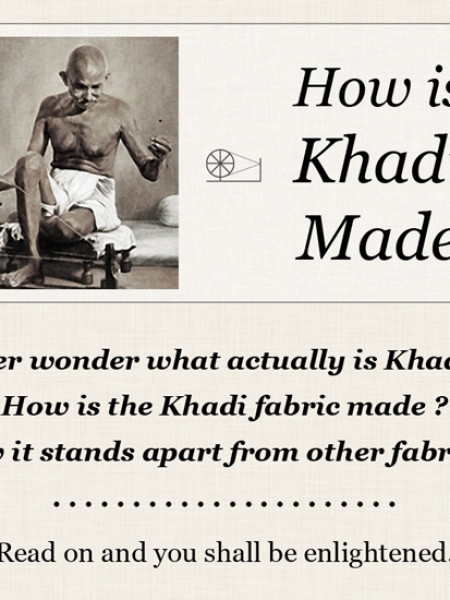How is Khadi Made Infographic