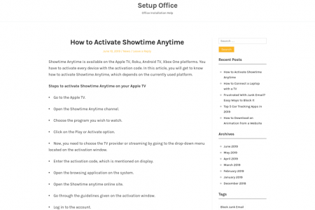 How to Activate Showtime Anytime Infographic