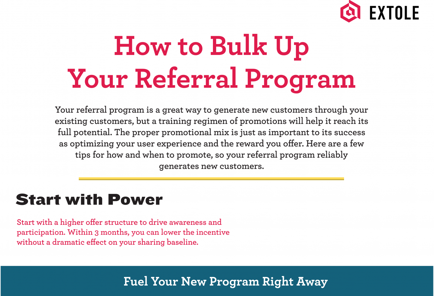 How to Bulk Up Your Referral Program Infographic