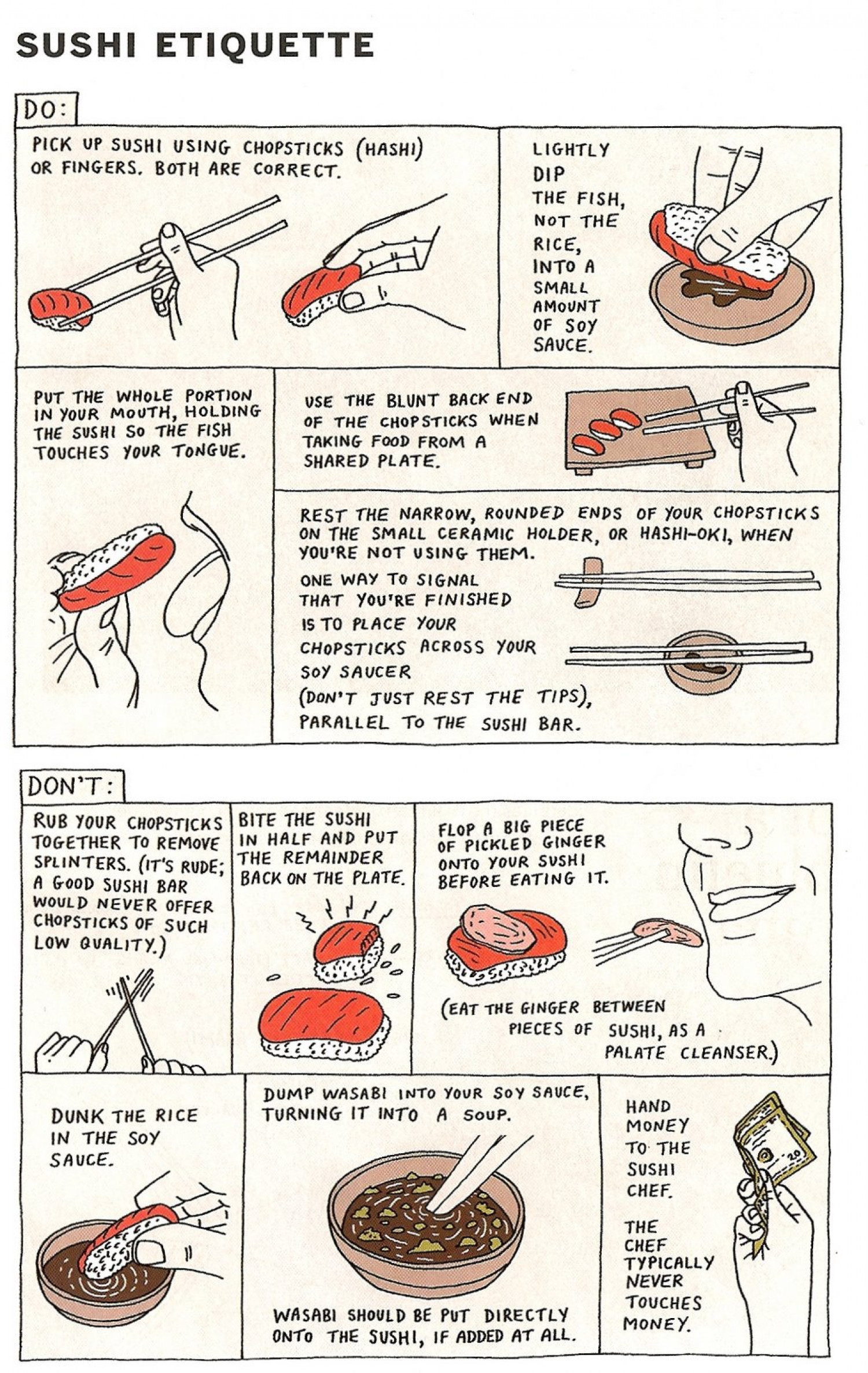 How to Eat Sushi Infographic