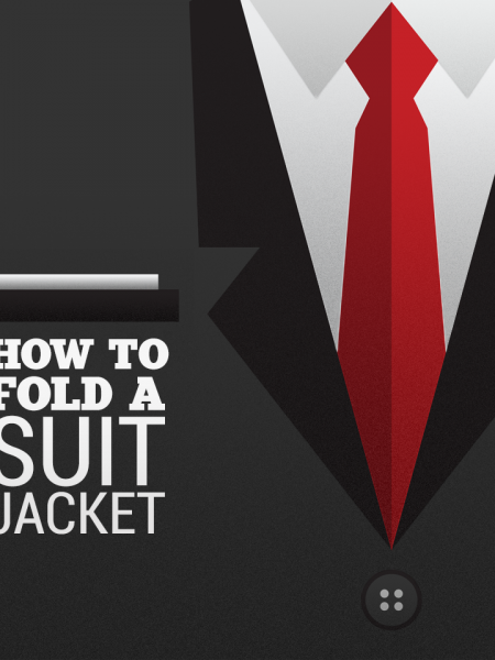 How to Fold a Suit Jacket for Travel Infographic