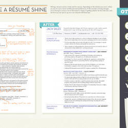 how to make a résumé shine visual ly