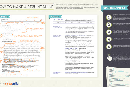 How to Make a Résumé Shine Infographic