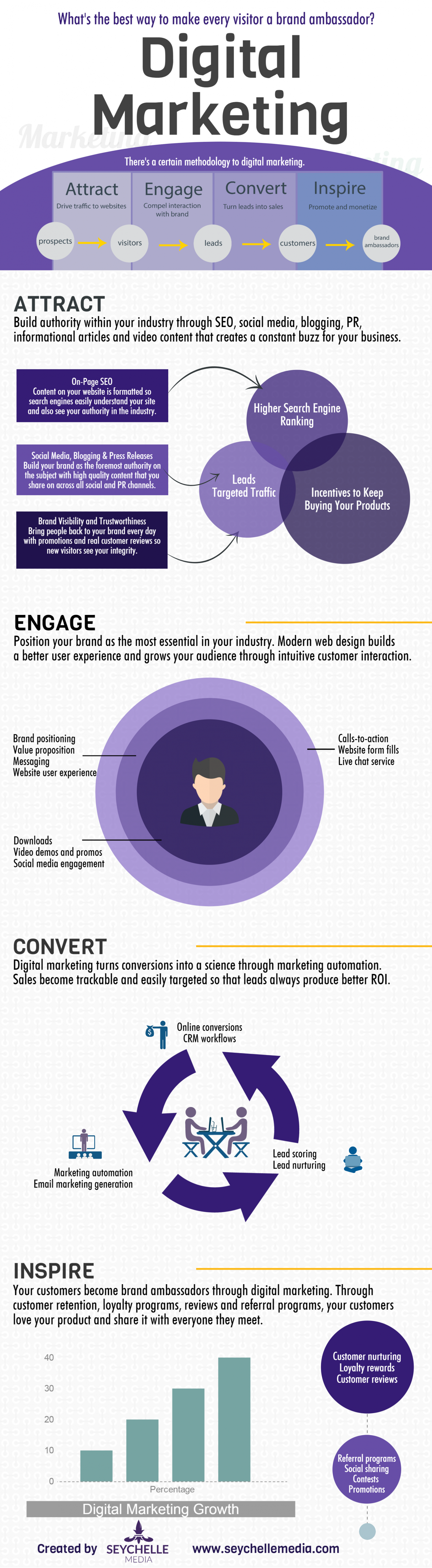 How to Turn Visitors into Brand Ambassadors: Digital Marketing Infographic