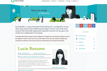 How to Write a Resume Infographic