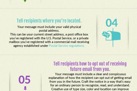 How to avoid breaking the law when sending cold emails Infographic