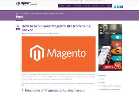 How to avoid your Magento site from being hacked Infographic