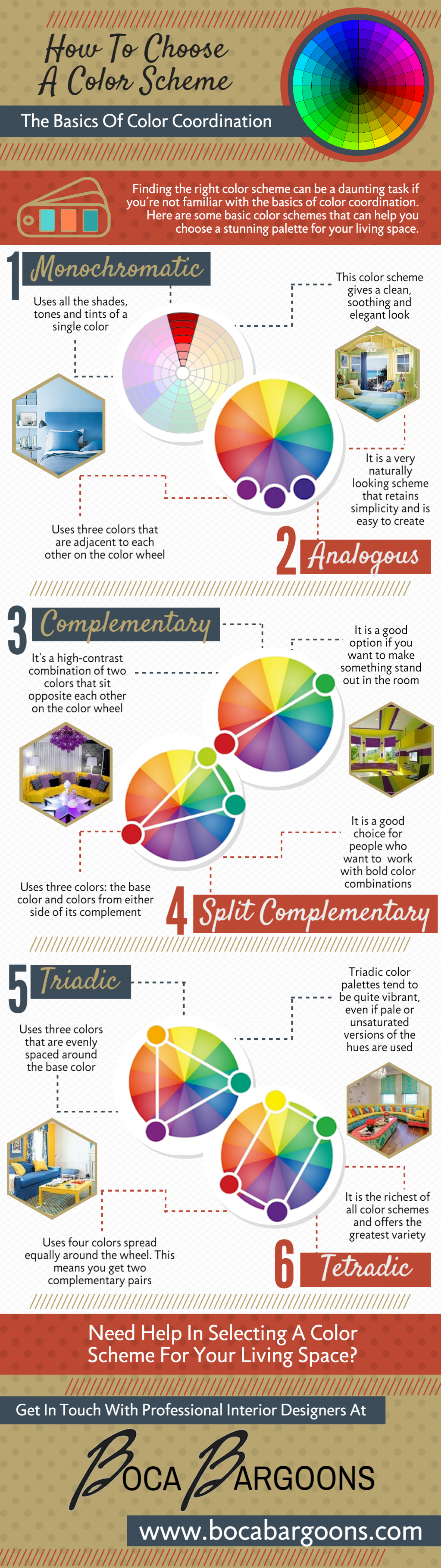 How to choose a color scheme Infographic