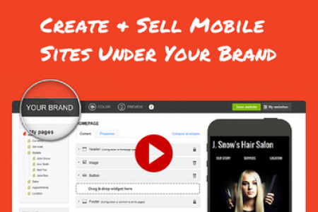 How to create and sell mobile websites? Infographic