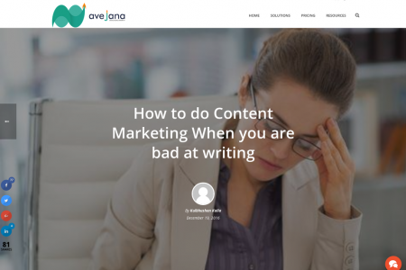 How to do Content Marketing When you are bad at writing Infographic