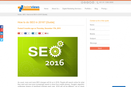 How to do SEO in 2016? Infographic