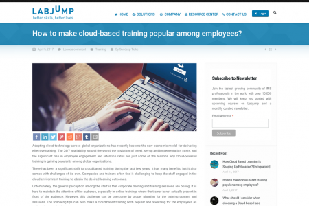 How to make cloud-based training popular among employees? Infographic