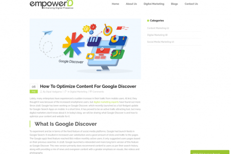 How to optimize content for Google Discover? Infographic