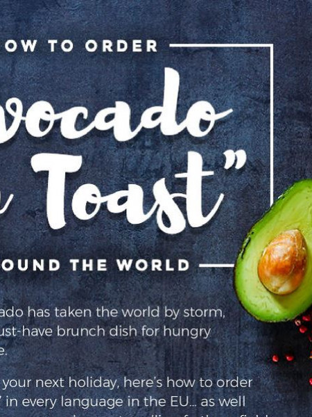 How to order avocado on toast around the world Infographic