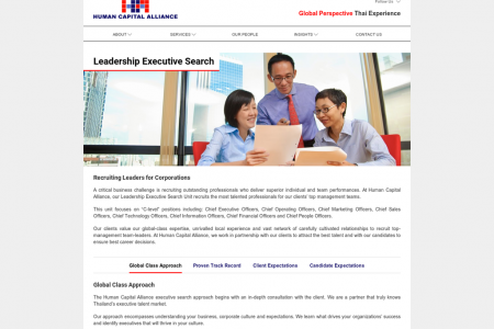 Human Capital Alliance Inc. Thailand, Singapore - Leadership Executive Search Infographic