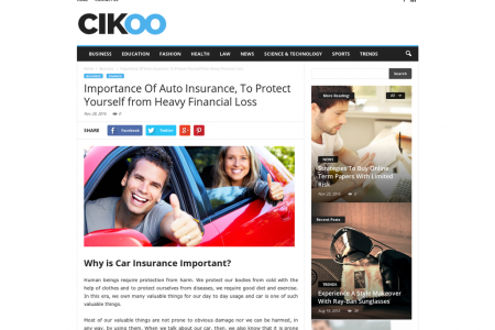 Importance Of Auto Insurance, To Protect Yourself from Heavy Financial Loss Infographic