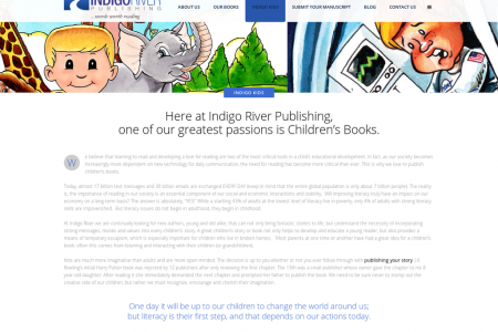 Indigo River Publishing greatest passions is Children's Books. Infographic