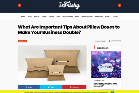 Induce A Good Brand Name Through the Pillow Boxes Packaging Infographic