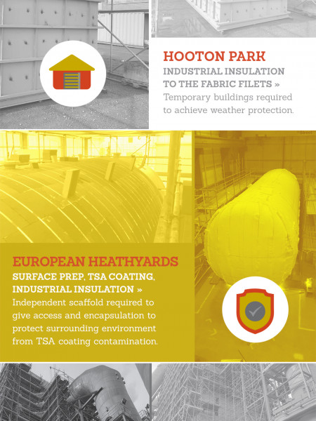 Industrial Scaffolding: Project Examples Infographic