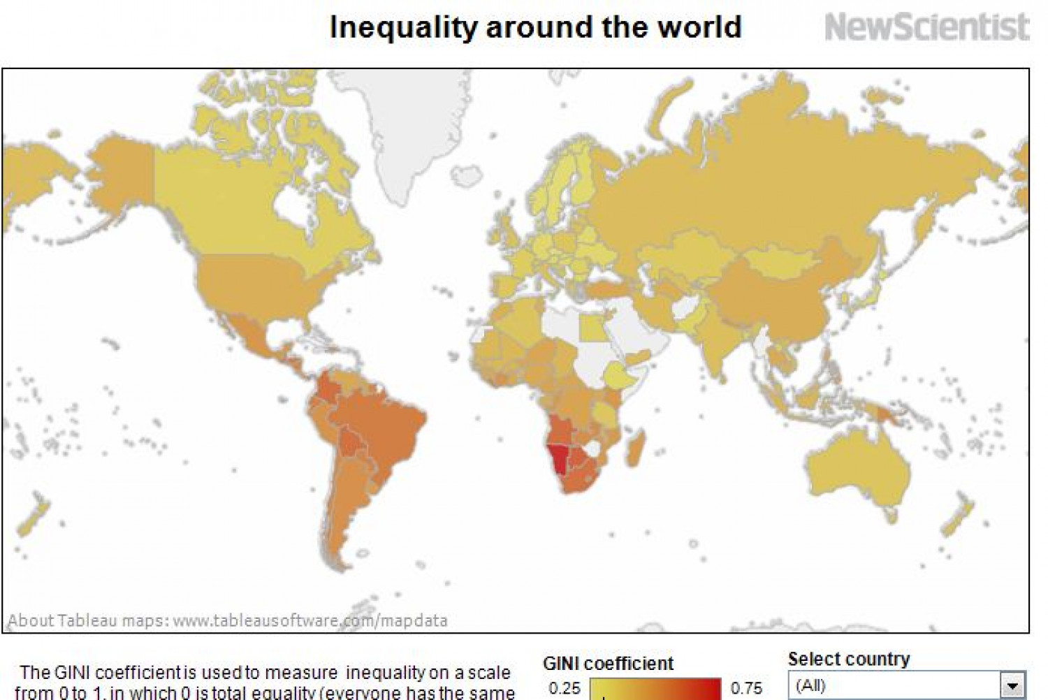 Inequality around the World Infographic
