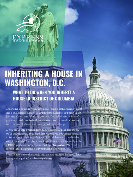 Inheriting a House in DC Infographic