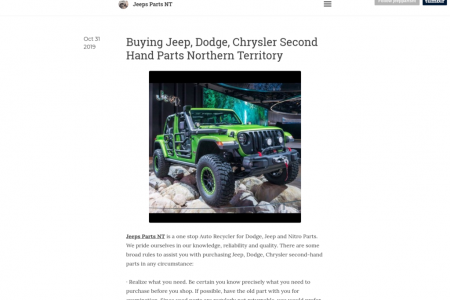 Jeep, Dodge, Chrysler Second Hand Parts Northern Territory Infographic