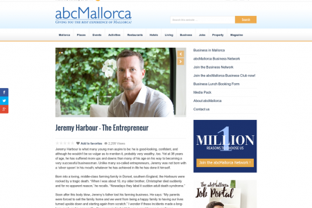 Jeremy Harbour Is A Successful Businessman. Infographic