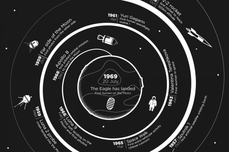 Journey to The Moon Infographic