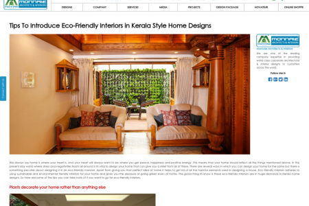 Kerala Style Home Designs Infographic