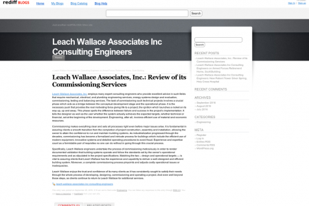 Leach Wallace Associates, Inc.: Review of its Commissioning Services Infographic